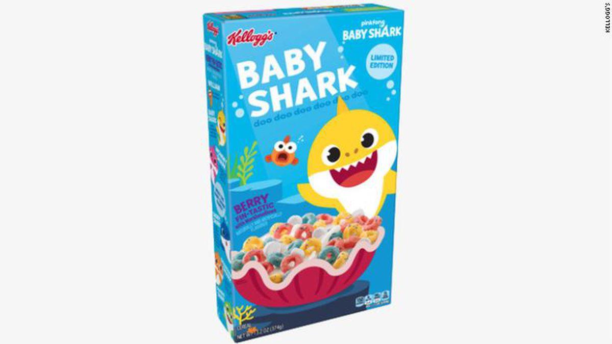 """Baby Shark"" will soon be swimming in bowls of milk as kids sing along to the popular song's ""doo doo doo doo doo doo."" / Source: CNN"