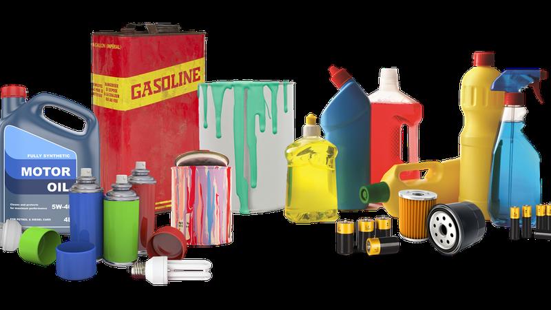 Hazardous waste includes cleaning fluids, pesticides, batteries and more.