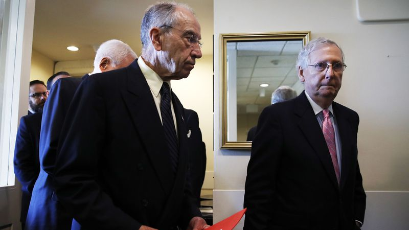Senate Judiciary Committee Chairman Sen. Chuck Grassley, R-Iowa, and Senate Majority Leader...