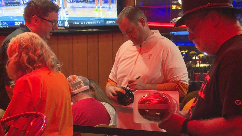 At the weekly Vol Network radio program Vol Calls at Calhoun's on the River in Knoxville,...