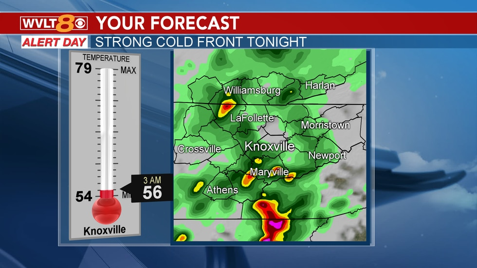 Strong cold front brings heavy rain, storms, and knocks down temperatures