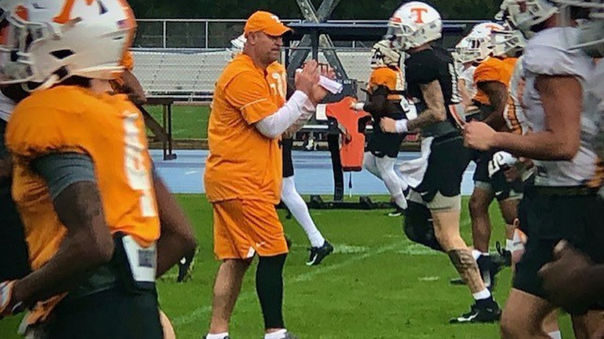 UT Football players practice in Jacksonville ahead of the Gator Bowl / Source: (WVLT)