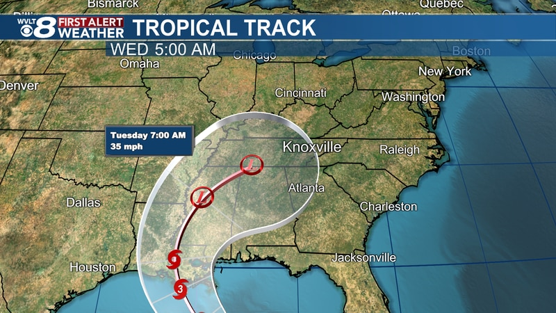 Ida will be the third tropical (named) storm to roll into East Tennessee this year.