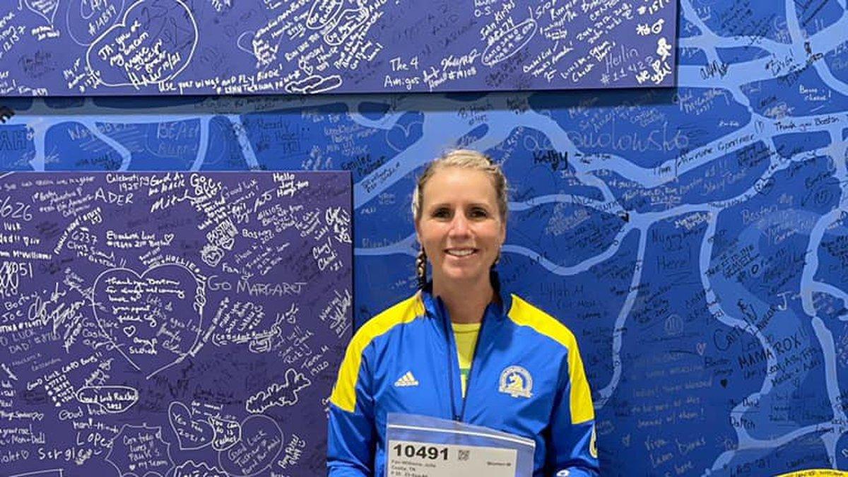 Sevier Co. teacher competes in Boston Marathon