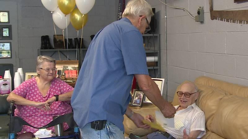 Community celebrates 93rd birthday for Hardy Johnson in Fountain City.