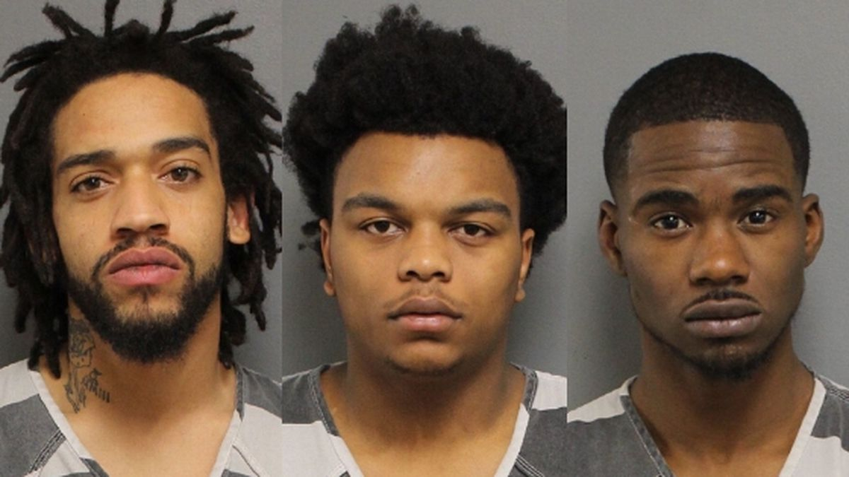 Emanuel Henry Turner, 26, (L) Deon J. Warren, 18, and Brandin Davis, 26, (R) were arrested in connection to shots fired on Gay Street. / Source: (Knox County Sheriff's Office)