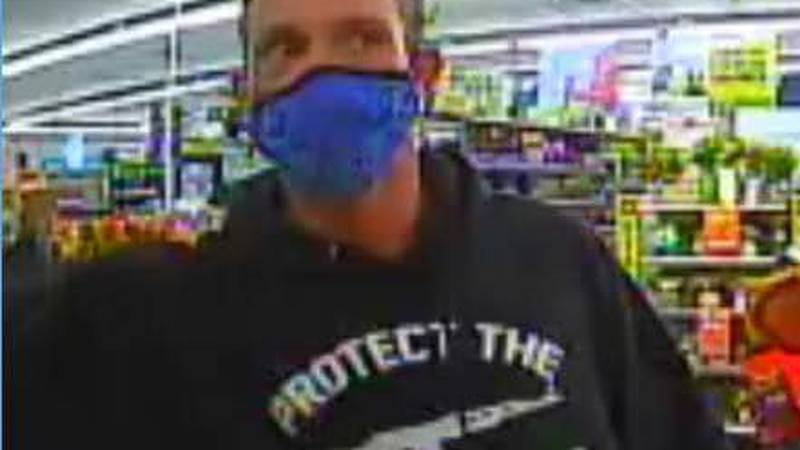 Officials say the man robbed a local Dollar General Store