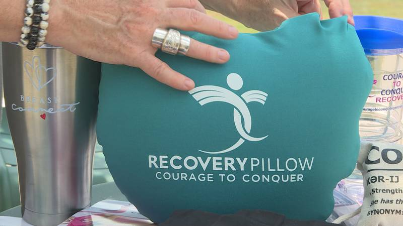 Recovery pillow for breast cancer patients