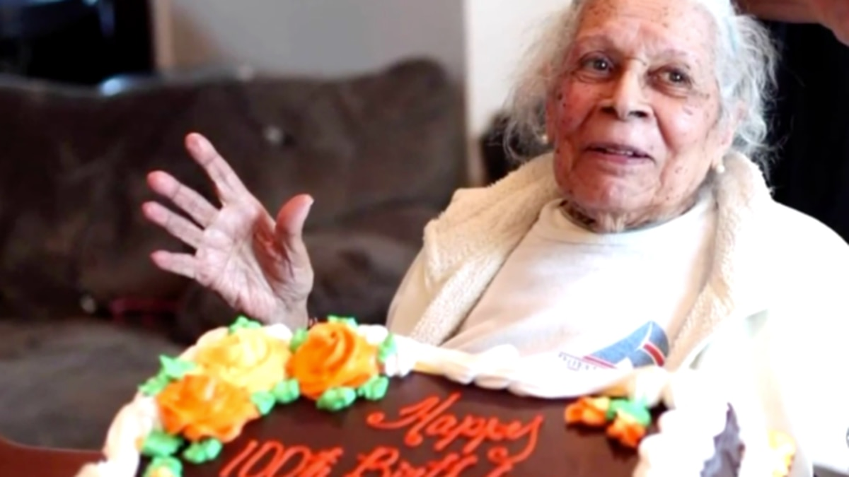 Lucia DeClerck on her 100th birthday. On her 105th birthday last month, she was diagnosed with...
