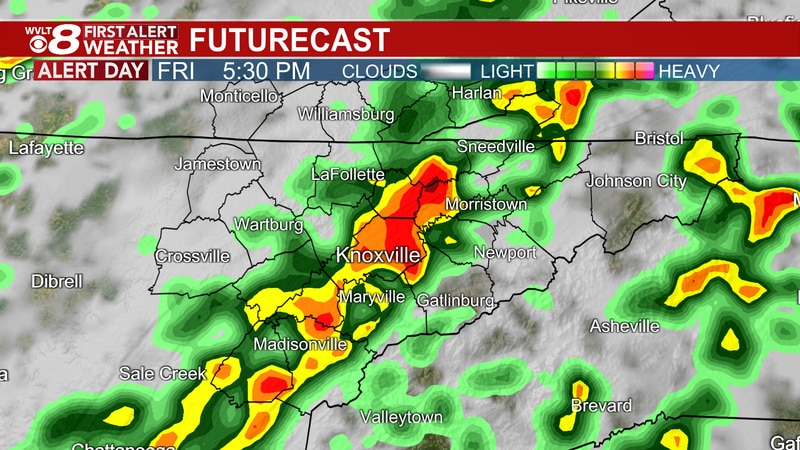 Stronger storms possible Friday afternoon and evening
