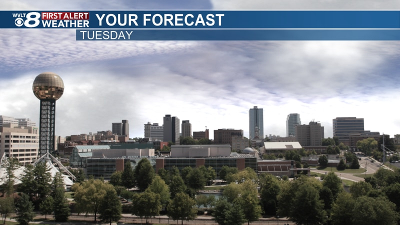 Some afternoon sunshine Tuesday