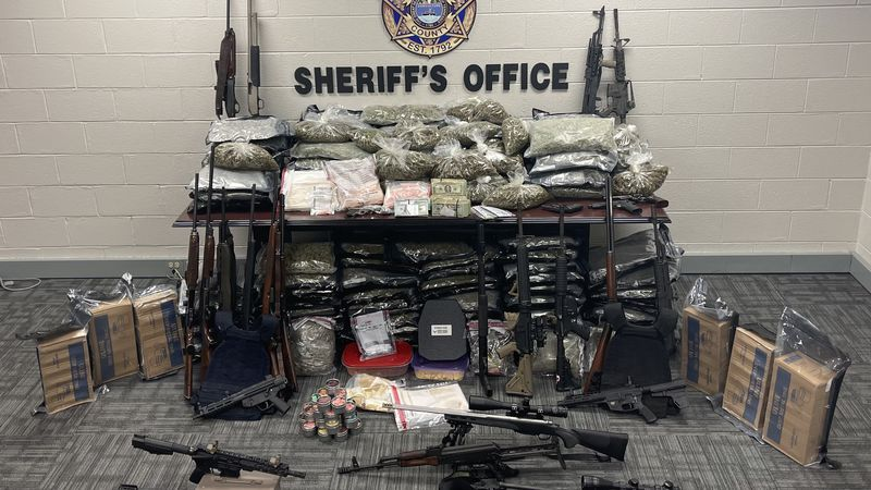 KCSO seize marijuana, THC products, fentanyl, firearms in narcotics bust