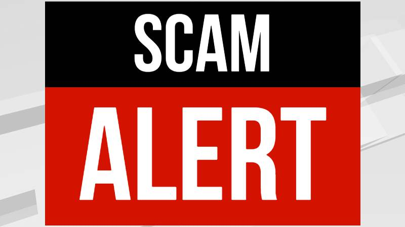 Scam alert graphic