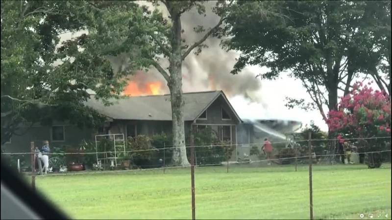 Maryville home catches fire