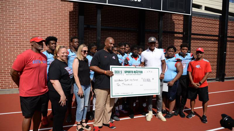 Dick's and Josh Dobbs awarded AE a $10,000 grant to go towards a new weight room
