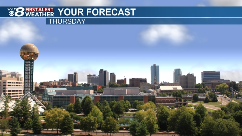 Cooler and sunny Thursday