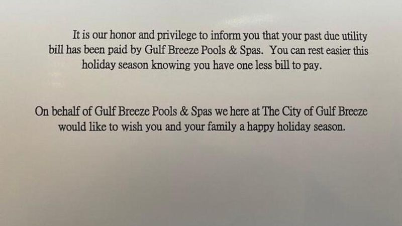 Instead of getting a disconnection notice in the mail, the families received a card that said,...