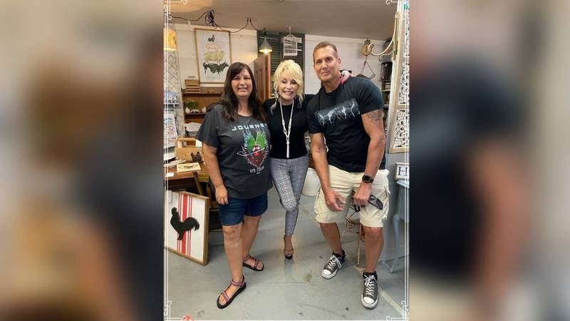 Dolly Parton was doing some antique shopping last week in middle Tennessee.