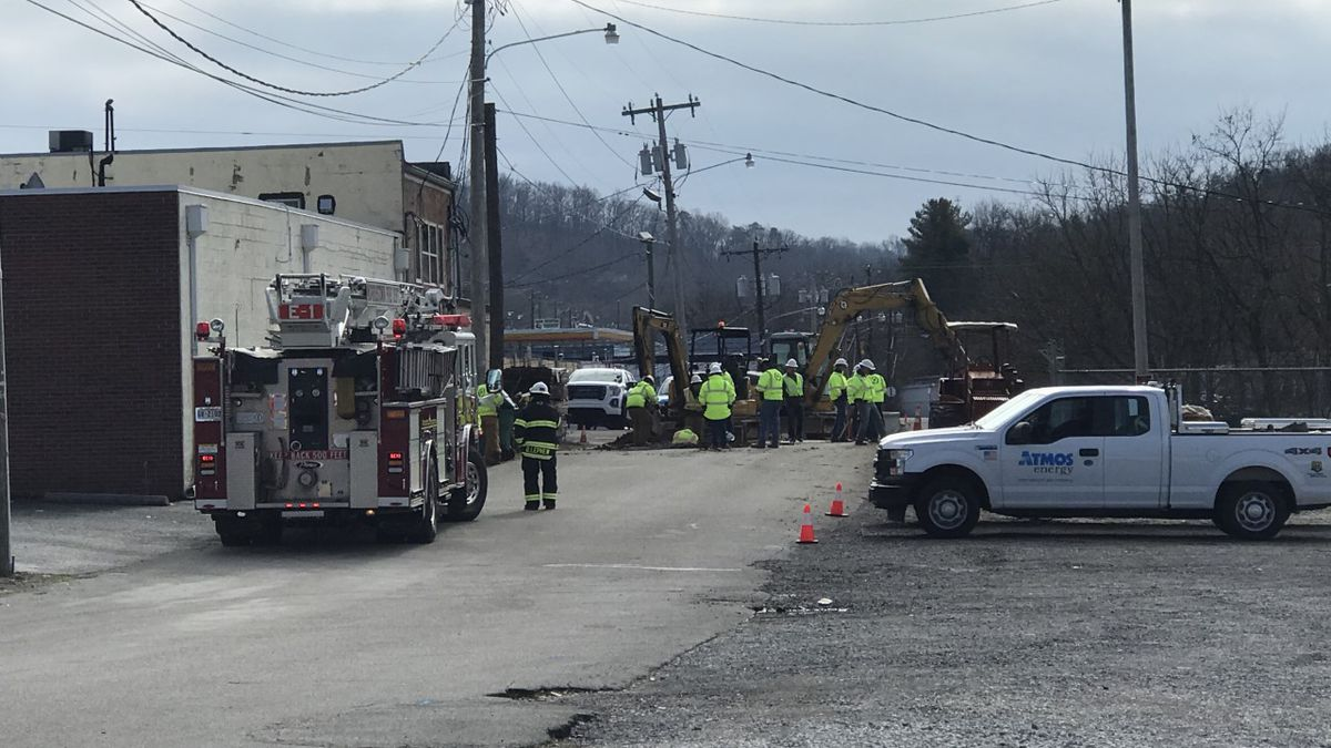 Crews at the scene of a Morristown gas leak on Freshour Street. / Source: (WVLT)