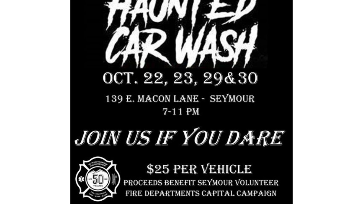 Haunted Car Wash hosted by Seymour Fire Department