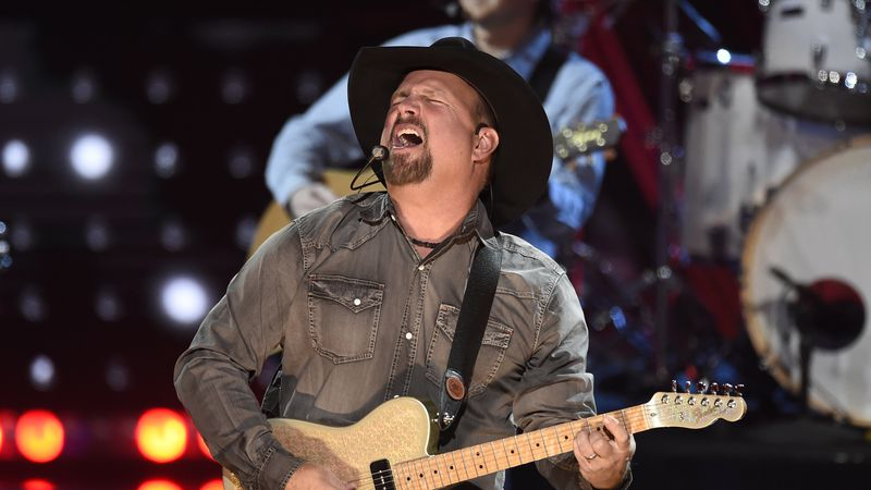 This March 14, 2019 file photo shows Garth Brooks performing at the iHeartRadio Music Awards in...