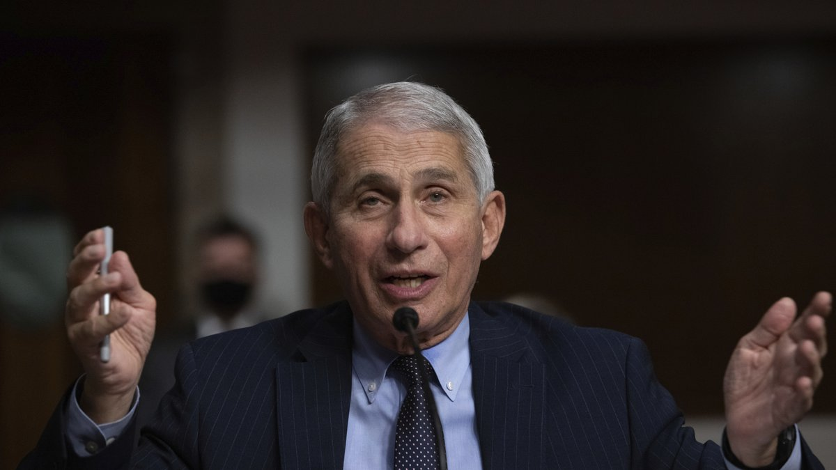 Dr. Anthony Fauci, Director of the National Institute of Allergy and Infectious Diseases at the...