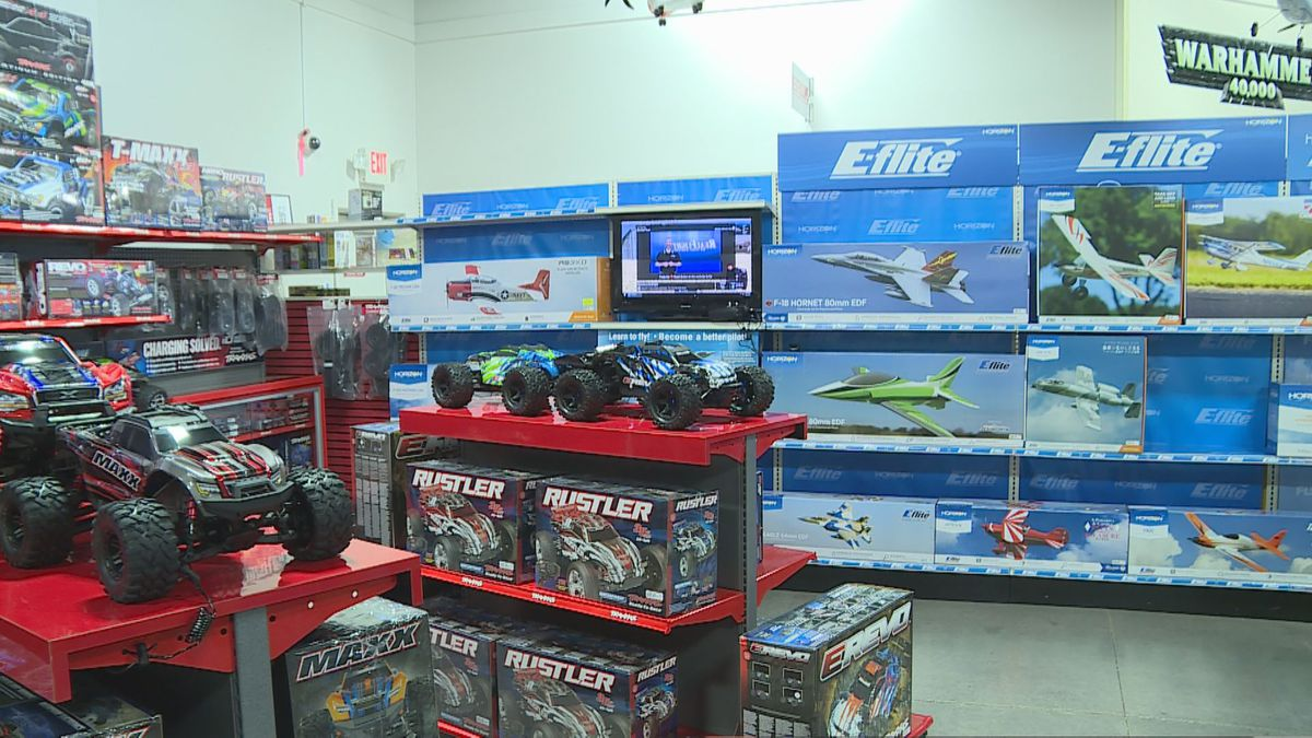 Phillips said at HobbyTown in Knoxville, radio control cars, trains and drones are top sellers. (Source: WVLT)