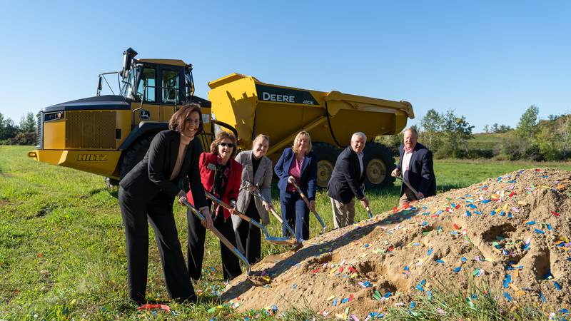 Participating in The Baldwins' ceremonial groundbreaking on October 1, were (left to right):...