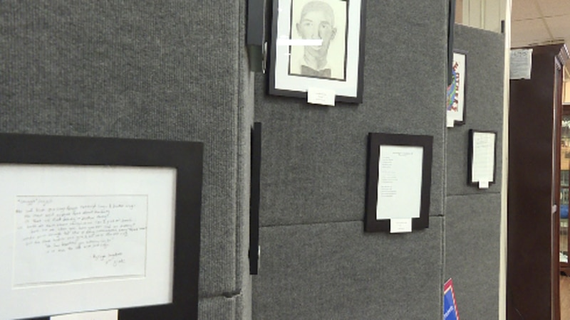 A section of the new art exhibit at the Oak Ridge History Museum for the Oak Ridge 85.