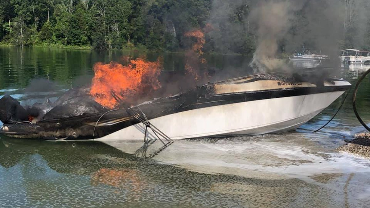 TWRA officers said they are investigating the cause of a boat fire on Norris Lake near Lakeside...