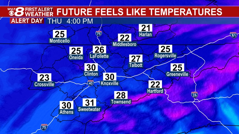 "Bitter cold ""feels like"" temperatures today."