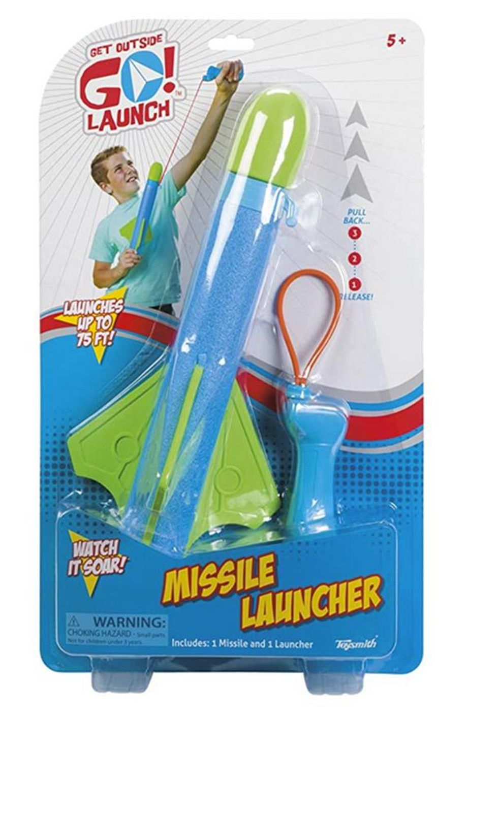 Missile Launcher. Potential for eye and facial injuries. Manufacturer or Distributor: Toysmith,...