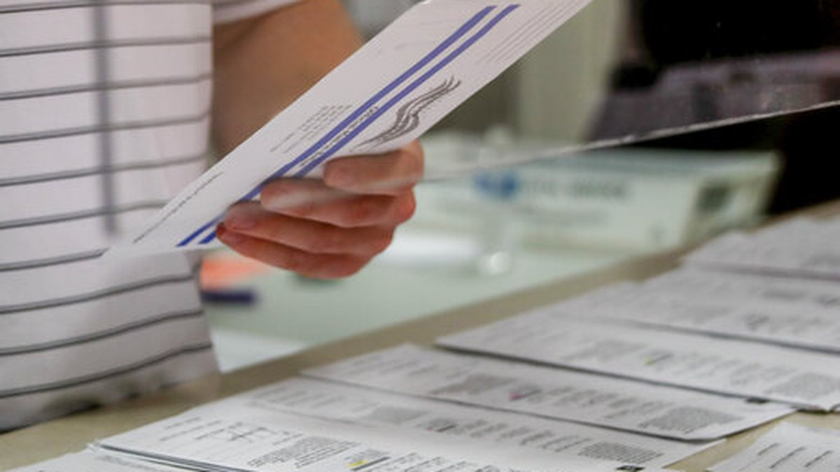 Processing work on mail in ballots for the Pennsylvania Primary election is being done by Tim...