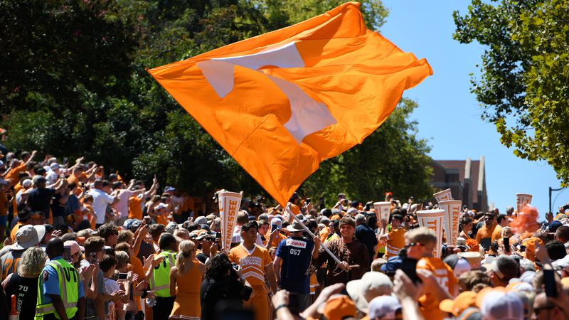 Scenes from pre-game activities at Neyland Stadium before the game against Georgia State ...