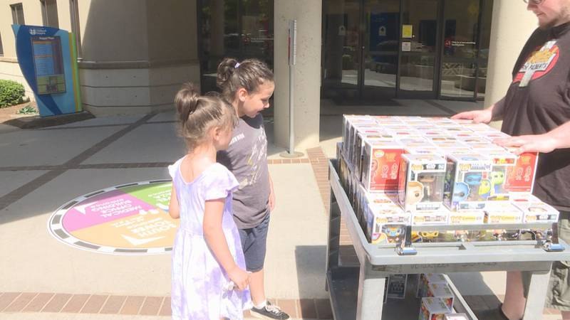 Patients at East Tennessee Children's Hospital recieve Funko Pop surprise