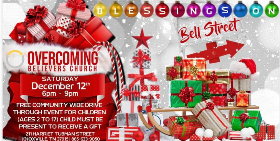 Overcoming Believers Church is hosting Blessings on Bell Street toy giveaway drive-thru event...