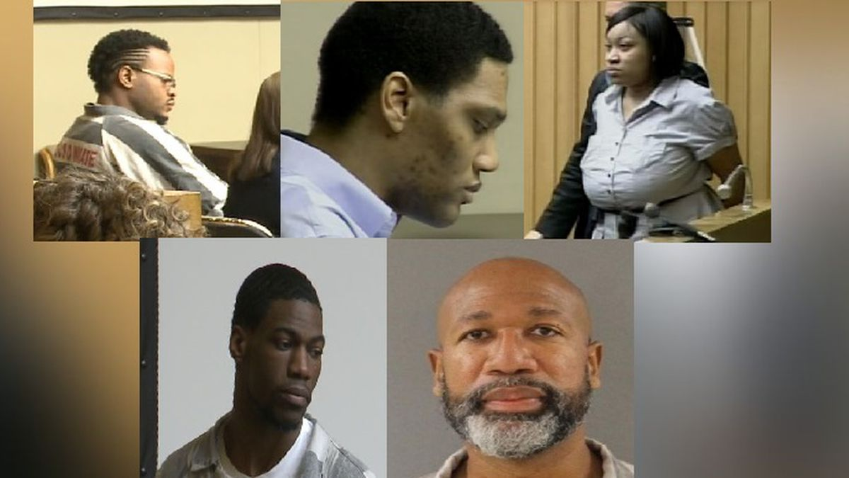 People convicted in the Christian-Newsom murders: Lemaricus Davidson, George Thomas, Vanessa Coleman, Letalvis Cobbins and Eric Boyd / Source: WVLT News