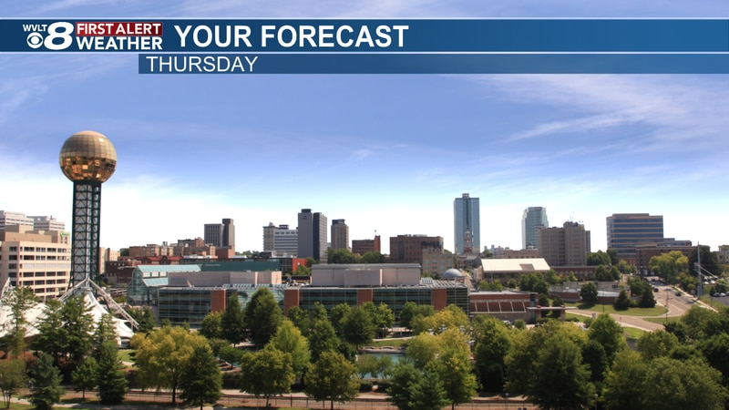 Sunny and hot day expected Thursday