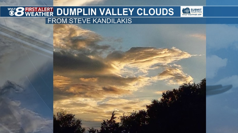 Steve spotted these unique clouds from Nicholas over Kodak's Dumplin Valley area.