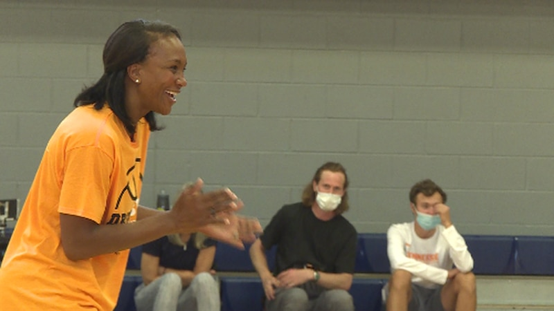 Tamika Catchings during the Boys & Girls Club Legacy Clinic