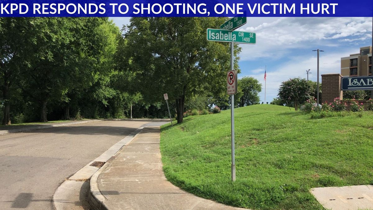 The Knoxville Police Department says the shooting happened in the 1500 block of Isabella Circle at 12:39 p.m. Source: WVLT
