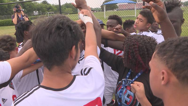 THIS MOMENT IN TIME USED TO BE A DREAM FOR AUSTIN-EAST'S HEAD SOCCER COACH JONATHAN NETHERLAND...