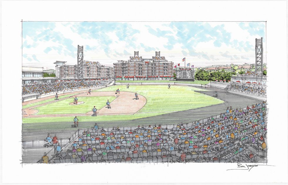 Field View from proposed Knoxville ballpark. /