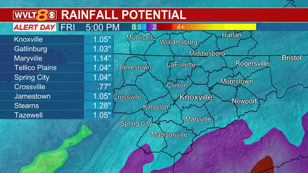 Scattered rain to soggy New Year's Eve night to New Year's Day morning, then scattered storms.