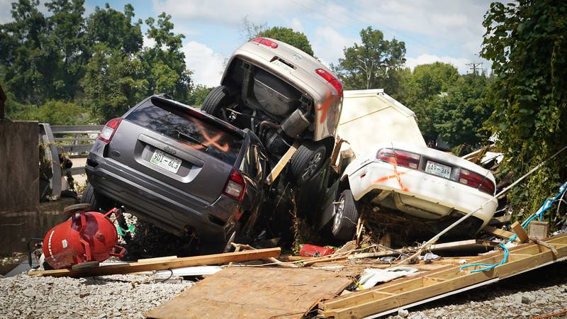 Flooding damage in Waverly, TN