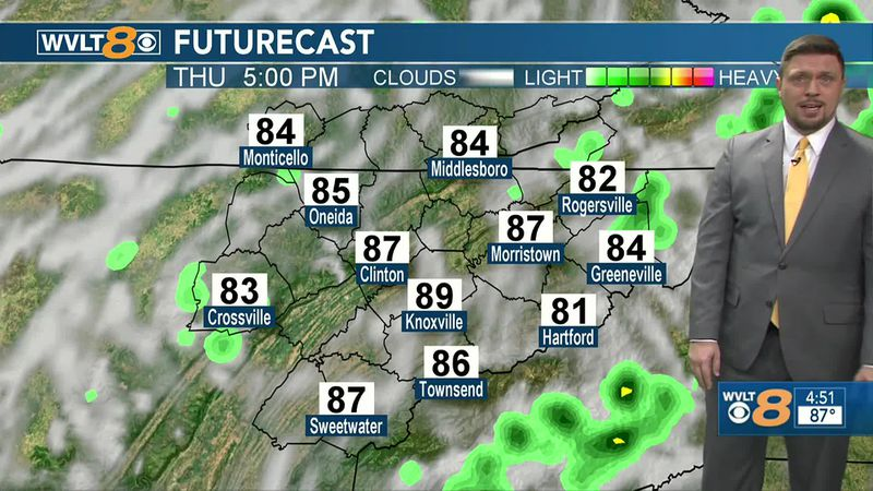 Rain chances will increase as more humidity is pumped into the region.