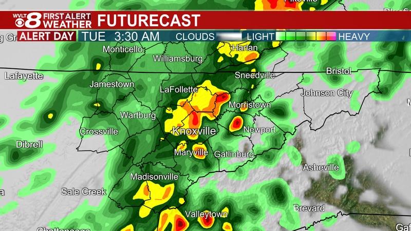Storms and Heavy Rain tonight through Tuesday AM