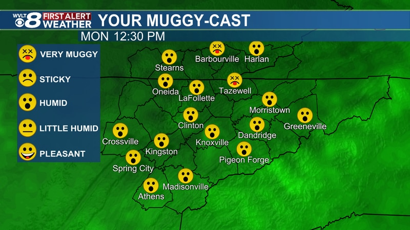 Hot and muggy weather returns