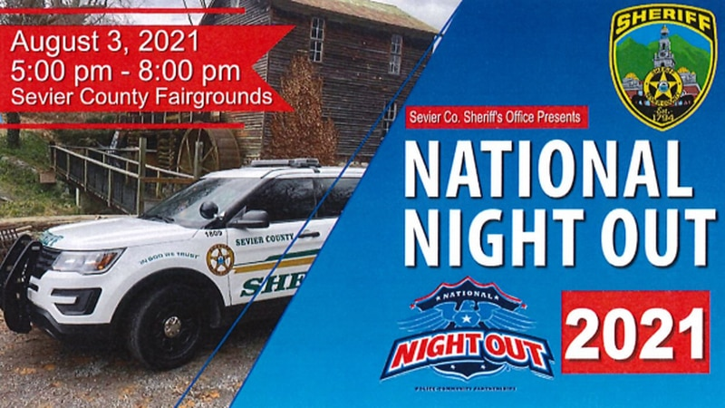 Sevier County Sheriff's Office will host National Night Out on August 3.