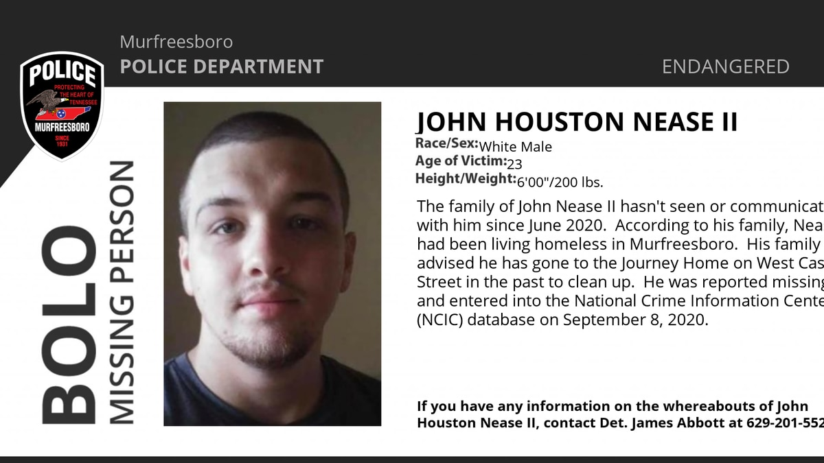 John H. Nease II has been missing since June